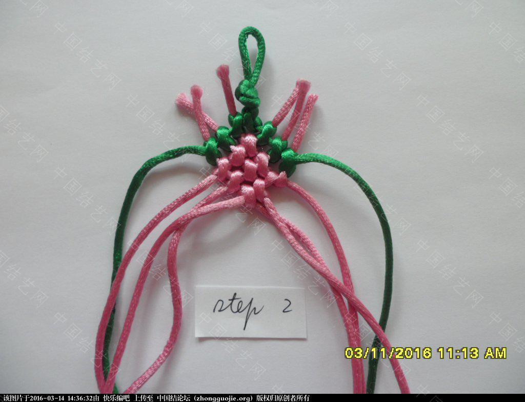 中国结论坛 春之歌 ——  一款钻石图案手绳的快捷编法 钻石 图文教程区 142529wifr5lci7n3312f2