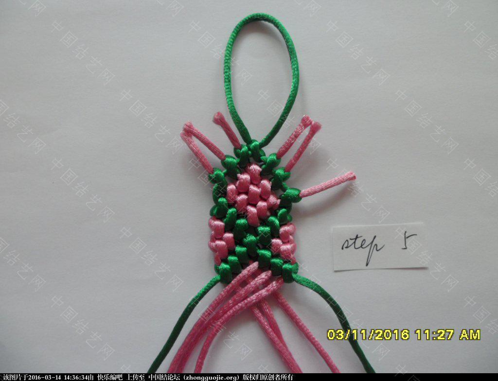 中国结论坛 春之歌 ——  一款钻石图案手绳的快捷编法 钻石 图文教程区 142744osu3c7zl1uv7d1uc