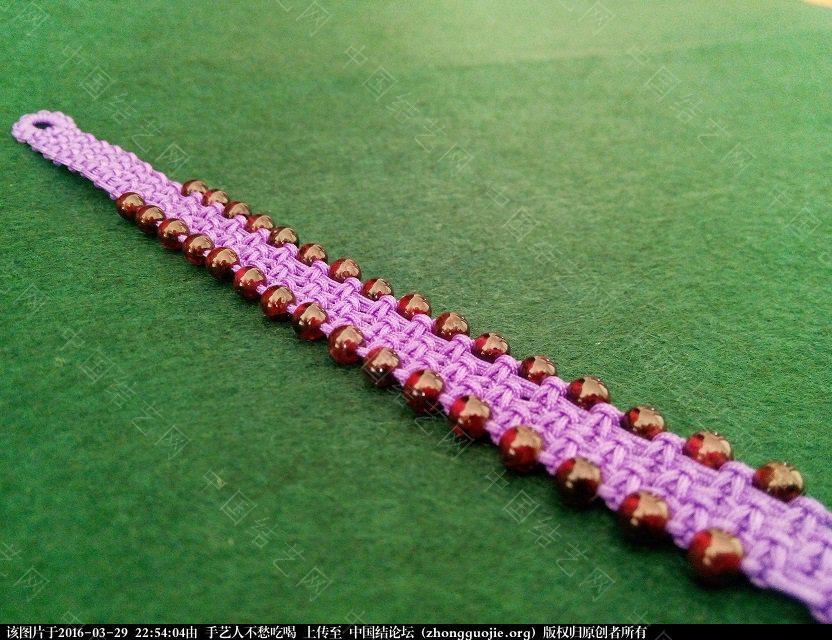 中国结论坛 并列平结串珠手链教程 串珠 图文教程区 224330z11gnhggdap7acwh