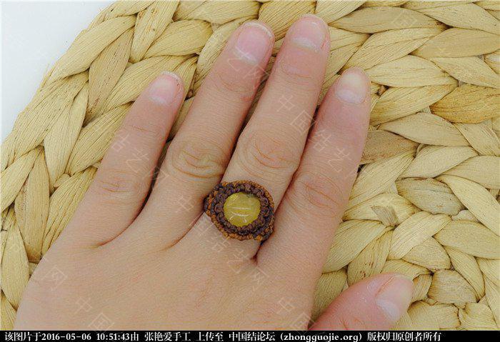 中国结论坛 macrame琥珀戒指       教程 戒指 图文教程区 105043np7kia7vy3amkve3