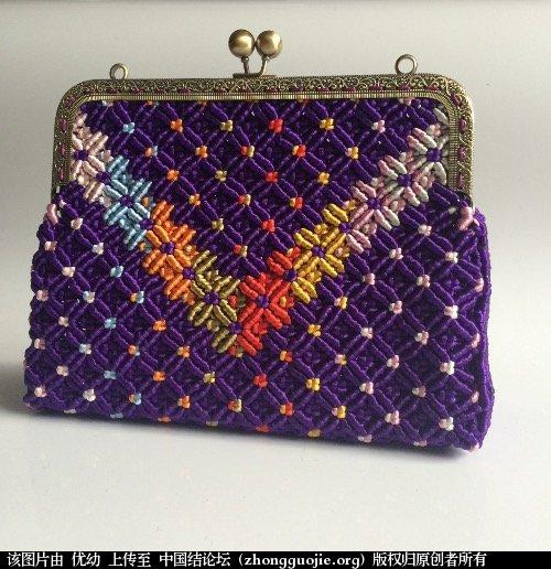中国结论坛 看结友的包包很漂亮,也做了一个!  作品展示 062559fxqcu6cqzcccittx