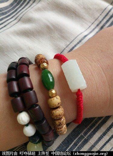 中国结论坛 送给自己的红绳手链  作品展示 134843ulopulzirlif7nly
