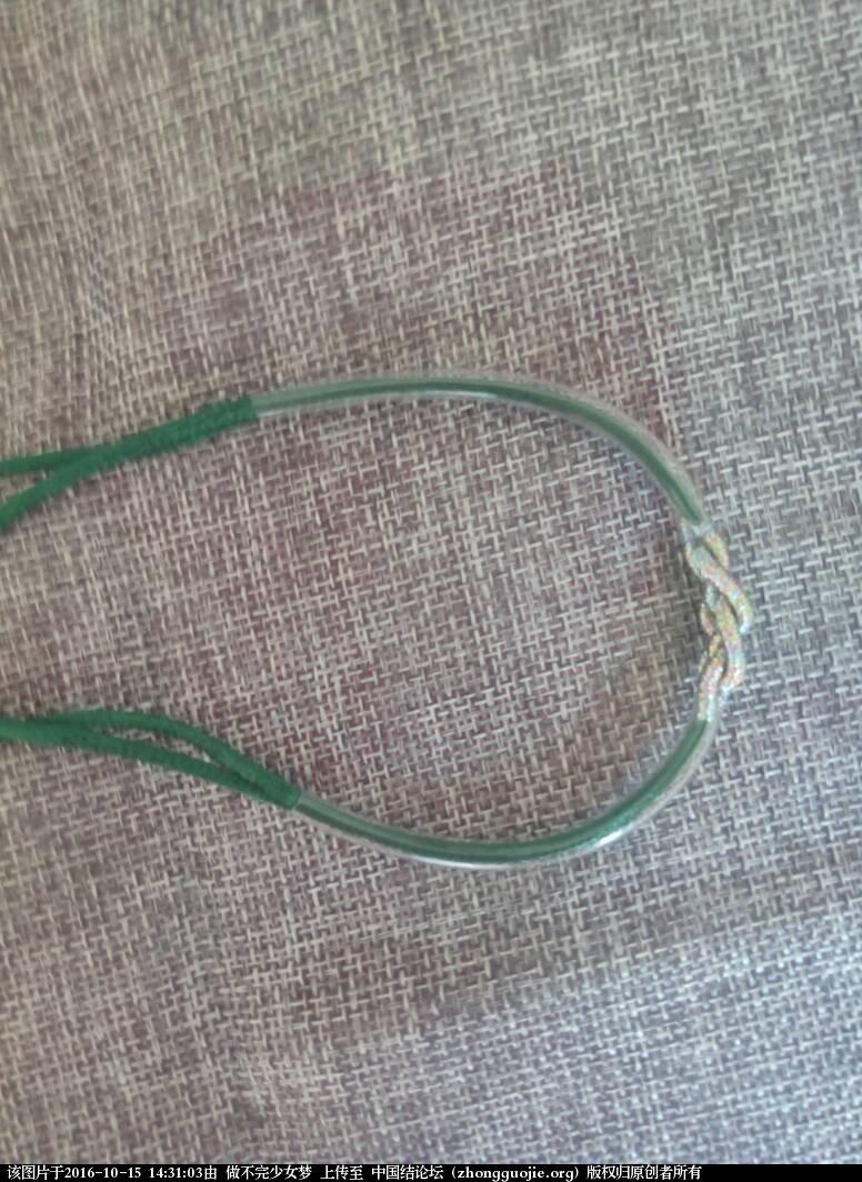 中国结论坛 绕线手链 手链,手链怎么绕金丝线,长手链的正确绕法,长绕线的编法图解 图文教程区 143103s83434dlepw7l4y4
