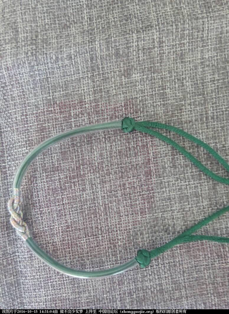 中国结论坛 绕线手链 手链,手链怎么绕金丝线,长手链的正确绕法,长绕线的编法图解 图文教程区 143103ylfn59np1iffmf1k