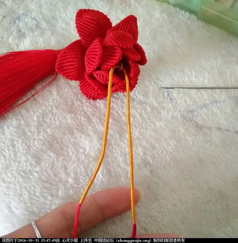 中国结论坛 莲花车挂的挂绳简易过程 风之歌,第一个,效果,部分,三个 图文教程区 154748wz0ukieouivkt91g