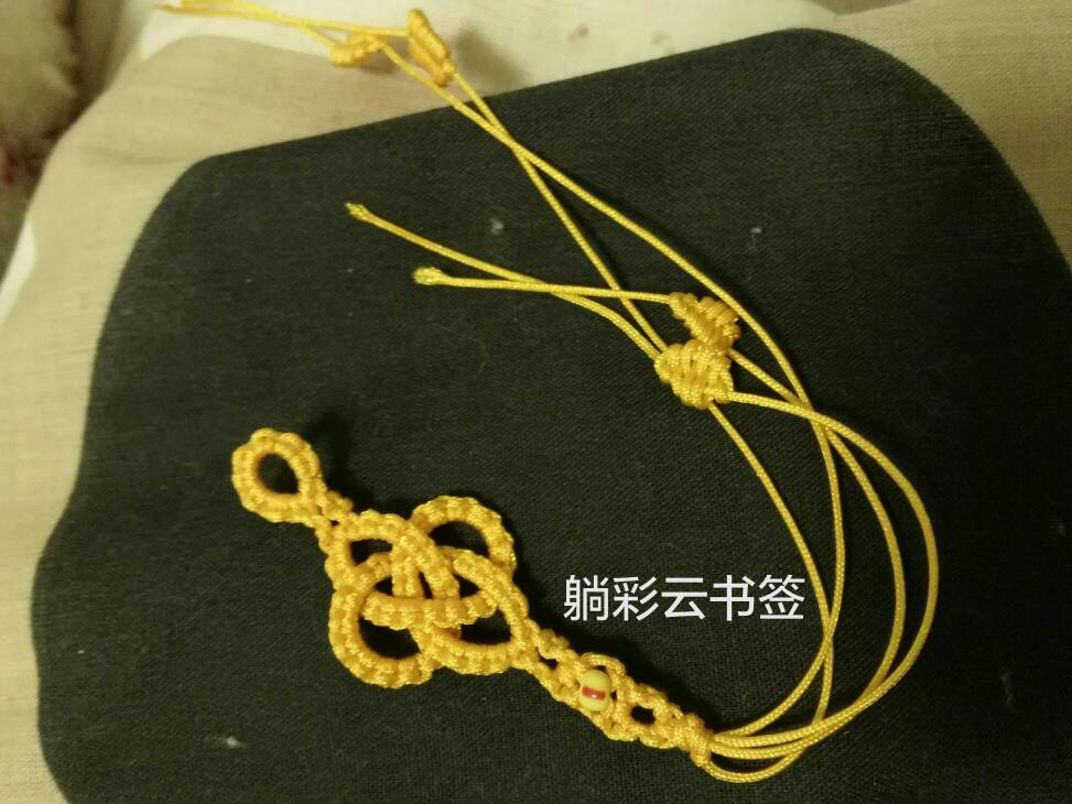 中国结论坛 金钱结书签  作品展示 084556a1azeea8cc1h86a6