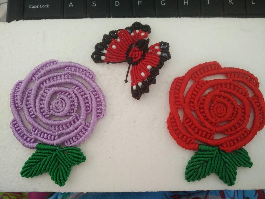 中国结论坛 玫瑰花杯垫和蝴蝶胸针  作品展示 003528l7p05d0f7j70bg77