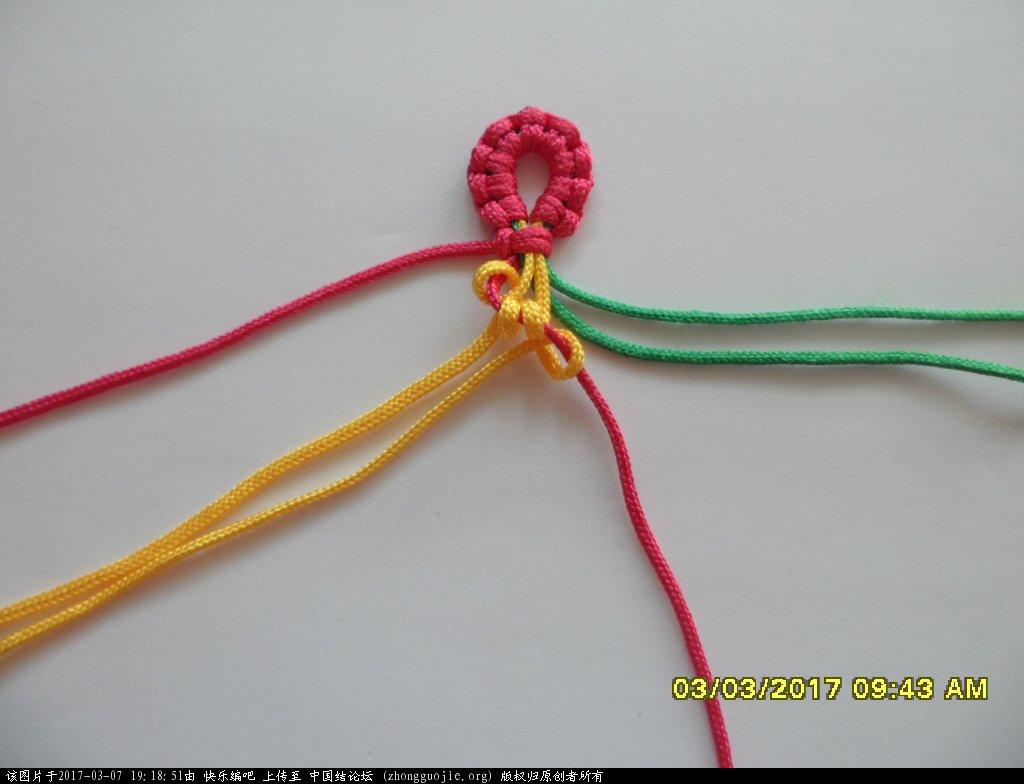 中国结论坛 简单的新款三色串珠手绳 —— 斜卷结练习 串珠,新款 图文教程区 190248r6jxf6qskc6ooxc8