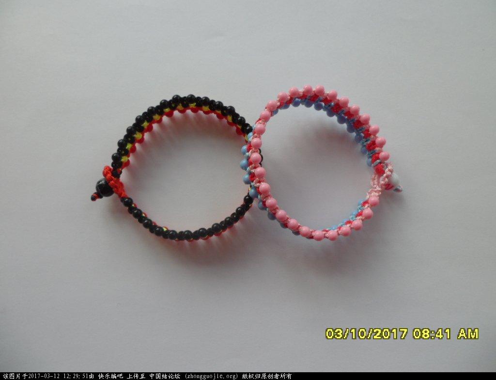 中国结论坛 简单的新款三色串珠手绳 —— 平结练习 串珠,新款 图文教程区 121202d98nuj28lffffafv