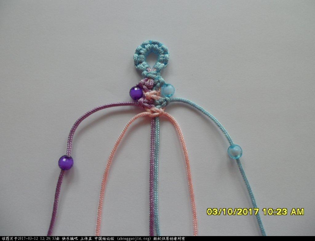 中国结论坛 简单的新款三色串珠手绳 —— 平结练习 串珠,新款 图文教程区 122342e9pz1wp1c2cc9tfn