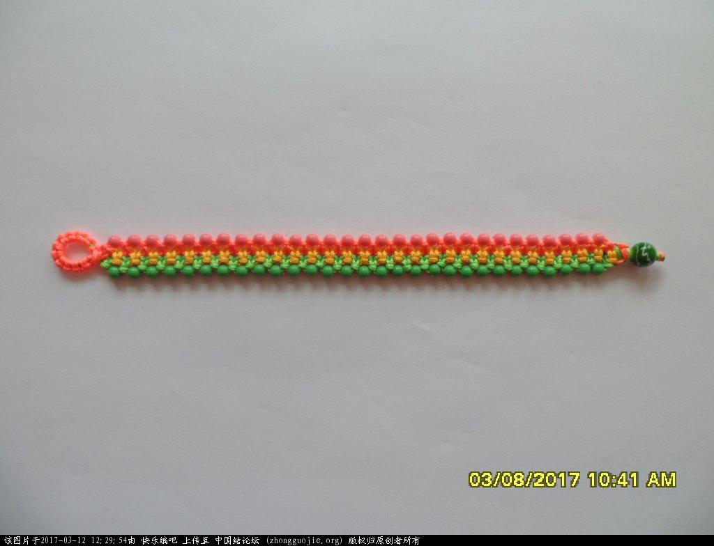 中国结论坛 简单的新款三色串珠手绳 —— 平结练习 串珠,新款 图文教程区 122515e6rzlvvhao4rlbud