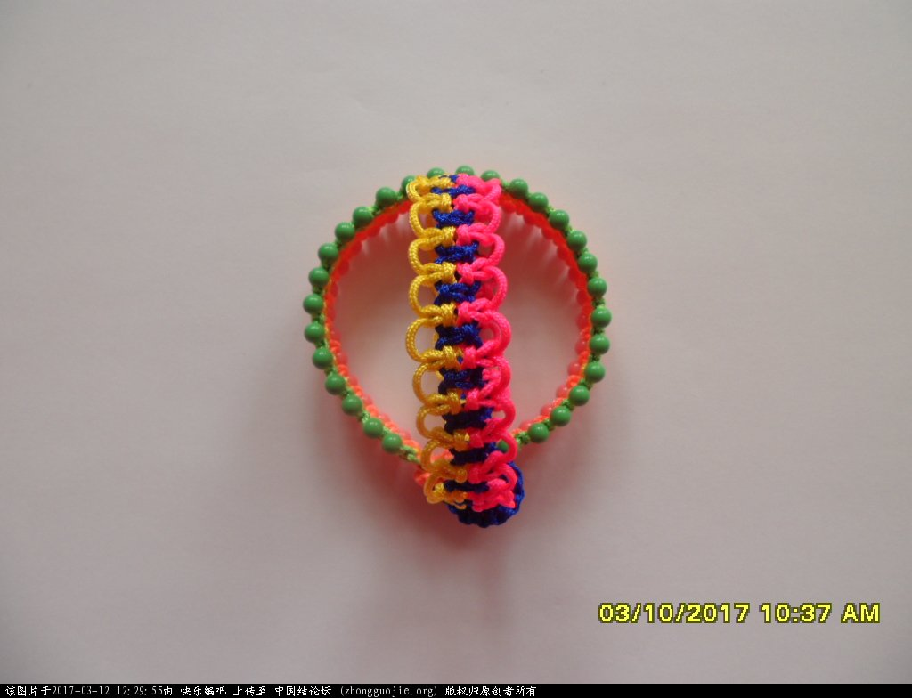 中国结论坛 简单的新款三色串珠手绳 —— 平结练习 串珠,新款 图文教程区 122638m16thcss9mokgsqs