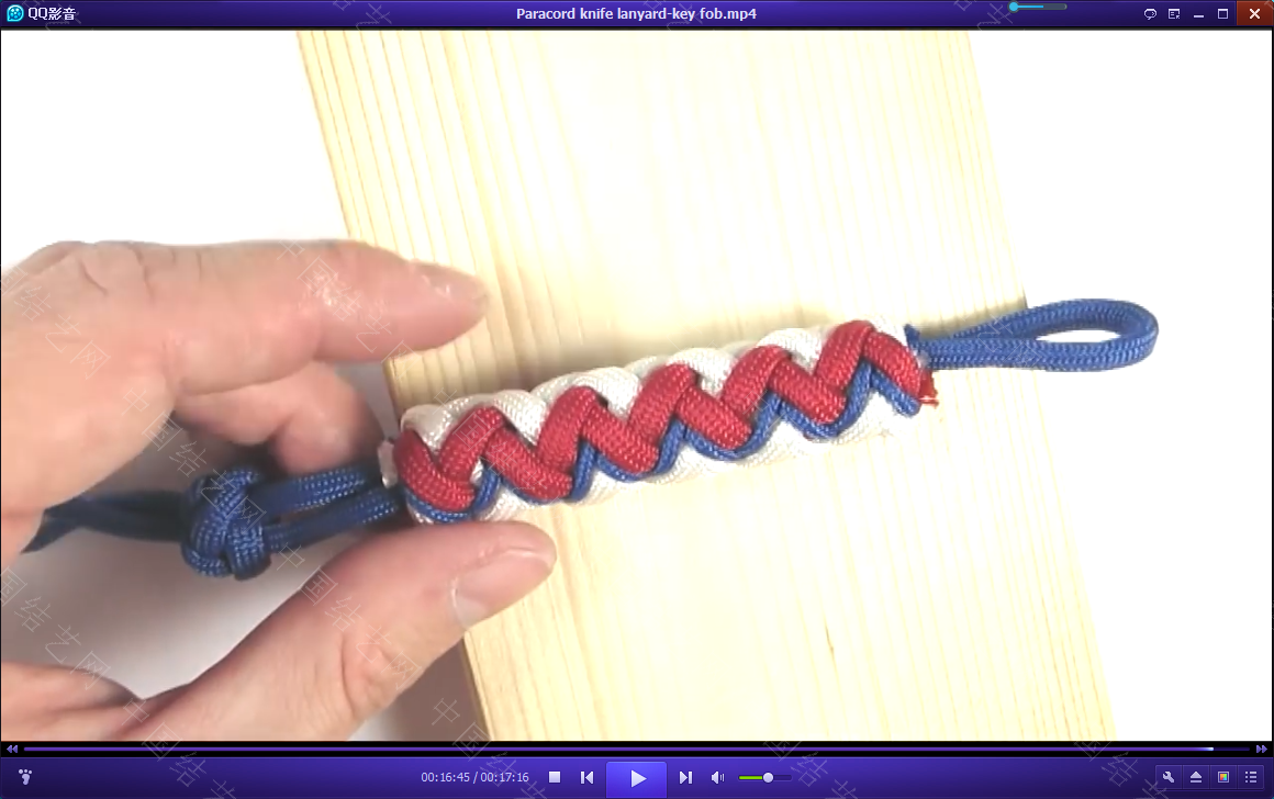 中国结论坛 一款伞绳刀坠的视频教程 视频教程 视频教程区 232531f80ttcjbmqmz08zs