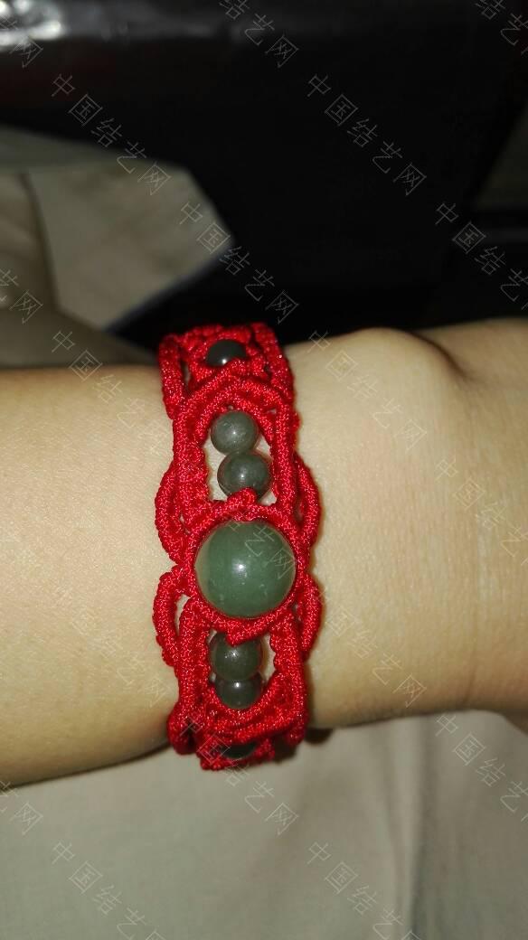 中国结论坛 玉珠红绳手链  作品展示 082526e19oopsi294osx9x