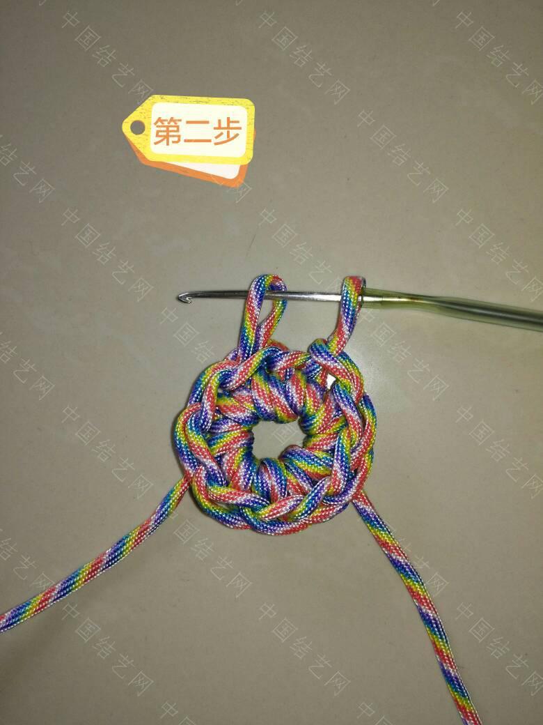 """中国结论坛 钩针""""流苏头""""钩法,为方便观看、用伞绳示范、有不明白的地方再交流:  图文教程区 171839jro1l1xlx16boch4"""