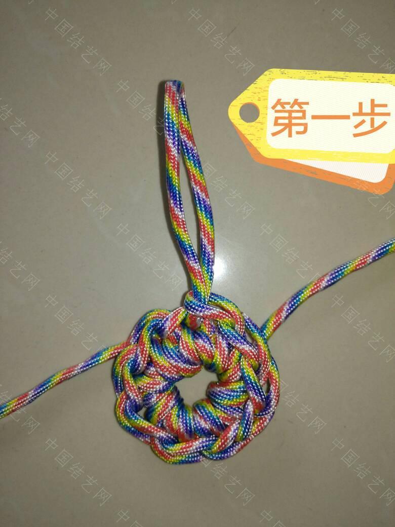 """中国结论坛 钩针""""流苏头""""钩法,为方便观看、用伞绳示范、有不明白的地方再交流:  图文教程区 171839nmzv5umcc6yzl5l6"""