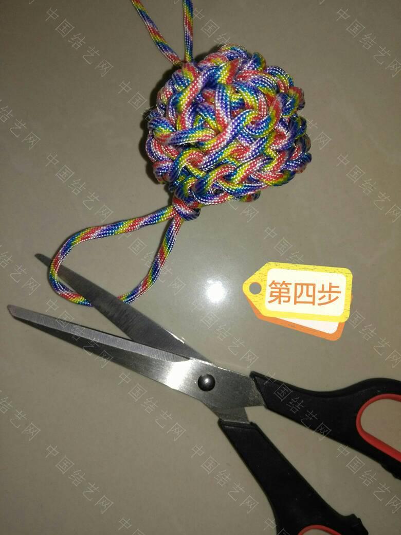 """中国结论坛 钩针""""流苏头""""钩法,为方便观看、用伞绳示范、有不明白的地方再交流:  图文教程区 171840y2dgo27tg95d0ggg"""