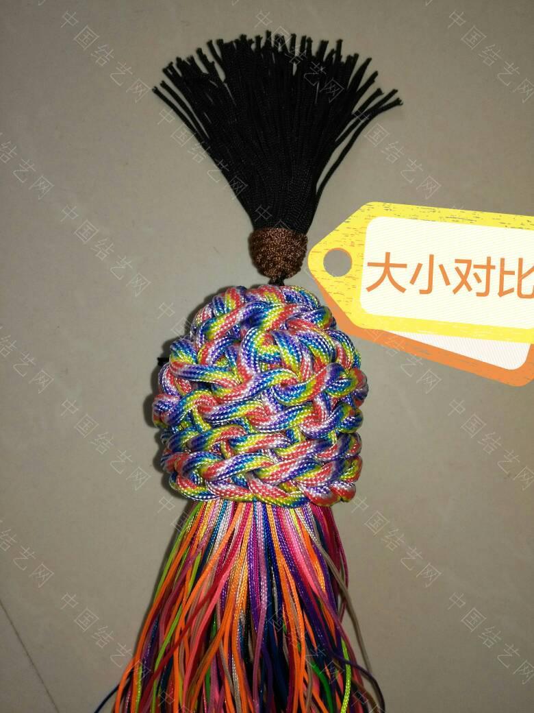 """中国结论坛 钩针""""流苏头""""钩法,为方便观看、用伞绳示范、有不明白的地方再交流:  图文教程区 171841mt2d89l8au99u382"""