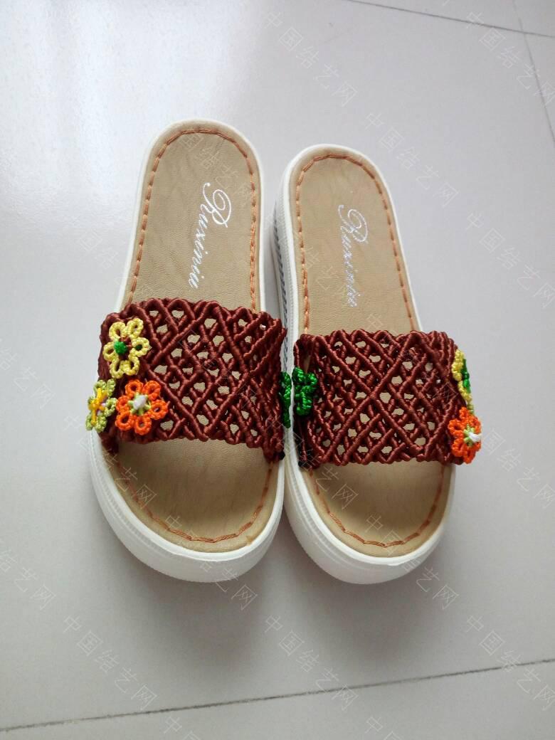 中国结论坛 简洁的镂空小花拖鞋  作品展示 171922xwb37f3juf2jbdn3