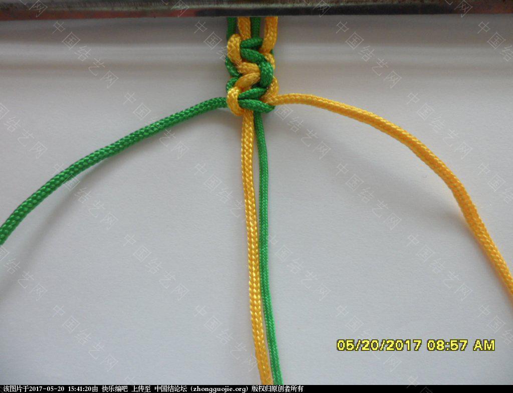 中国结论坛 双色平结手绳  ——  平结还可以这样编  (1)  图文教程区 153534lj9u9b68b8u3j0f8