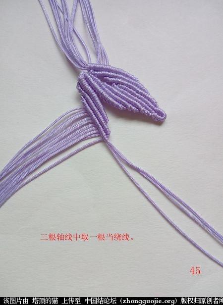 中国结论坛 百合花胸针 百合花 立体绳结教程与交流区 171524ybdj6plr5ddracvv