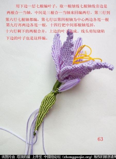 中国结论坛 百合花胸针 百合花 立体绳结教程与交流区 171529ip0e8zzzqaepytm0