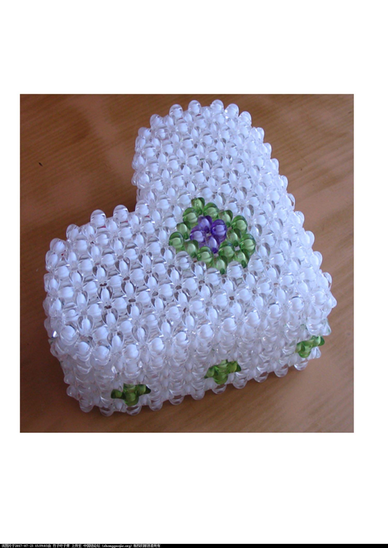 中国结论坛 跟大家分享串珠花瓶,抽纸盒及像框。  串珠其他手工资料分享 155817lioiet9z12tiomx7