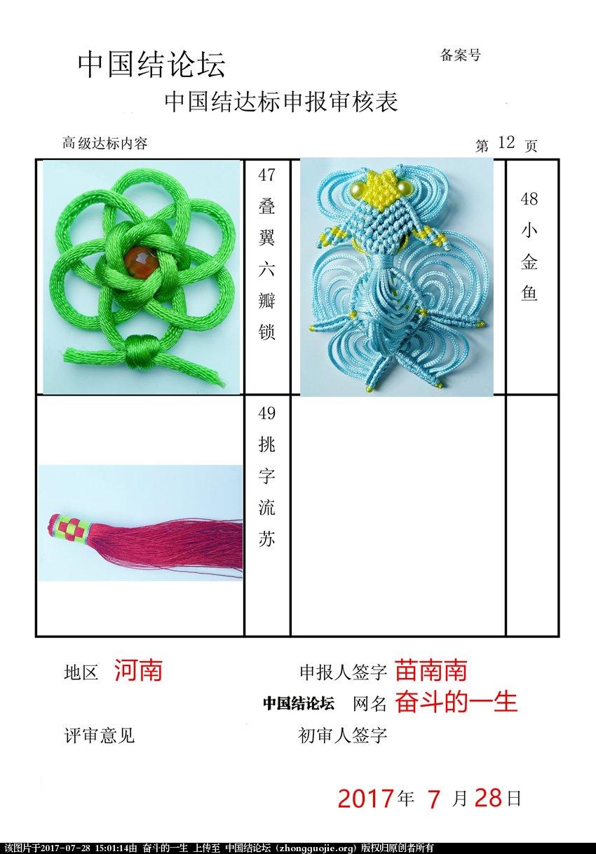 中国结论坛 奋斗的一生 - 高级达标申请稿件  中国绳结艺术分级达标审核 145808vvzw2tweukpsypsj