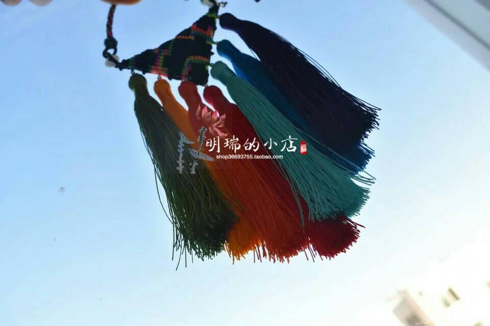 中国结论坛 七彩流苏挂件 七彩,流苏,流苏与挂件连接方法,流苏怎么绑在挂件上 作品展示