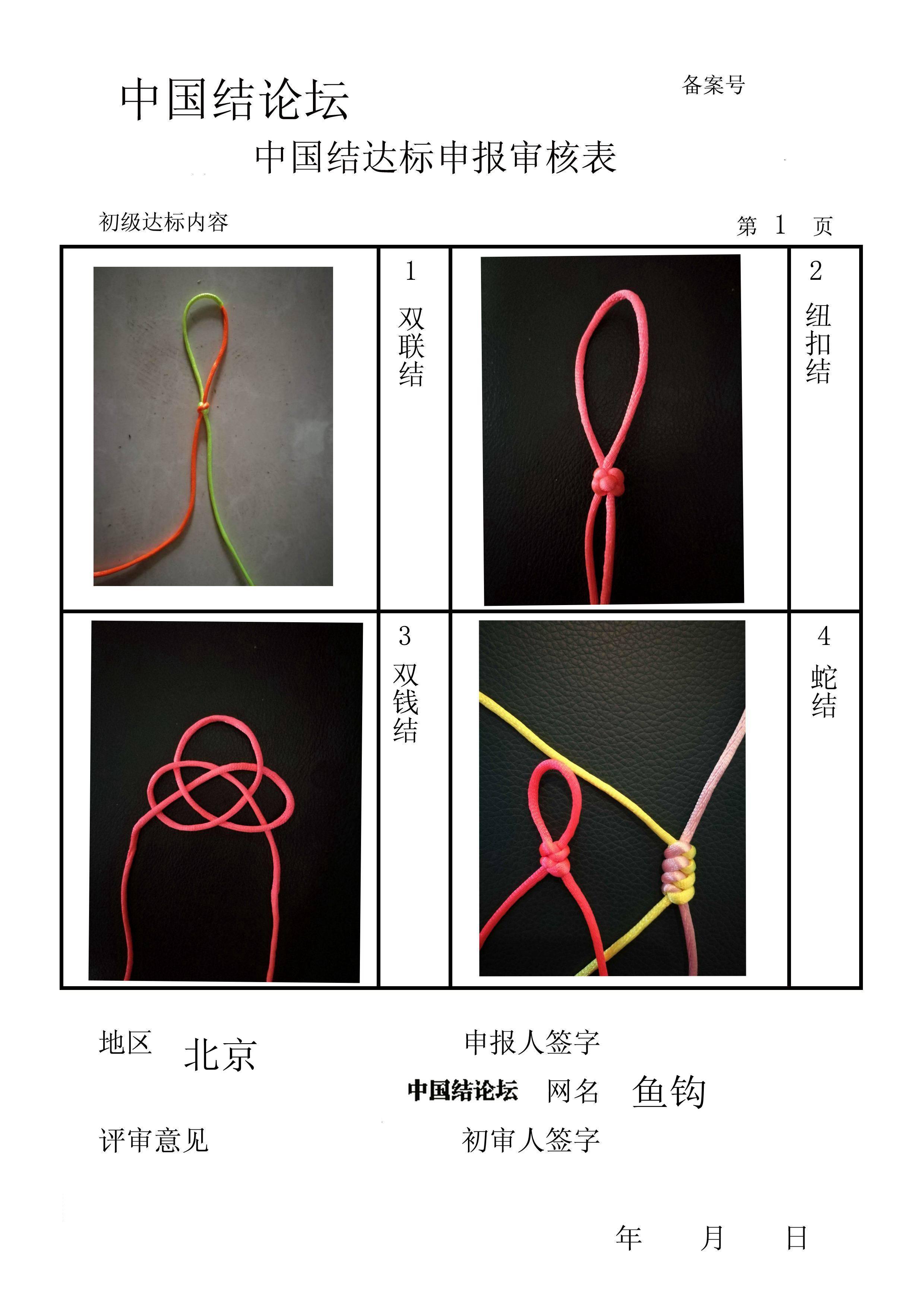 中国结论坛 鱼钩-初级达标申请稿件  中国绳结艺术分级达标审核 153941q580dp0acvx5wc0a