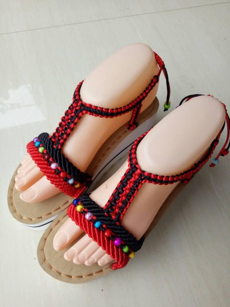 中国结论坛 仿了一双异域风情凉鞋  作品展示 080939dt6565s9stt15367