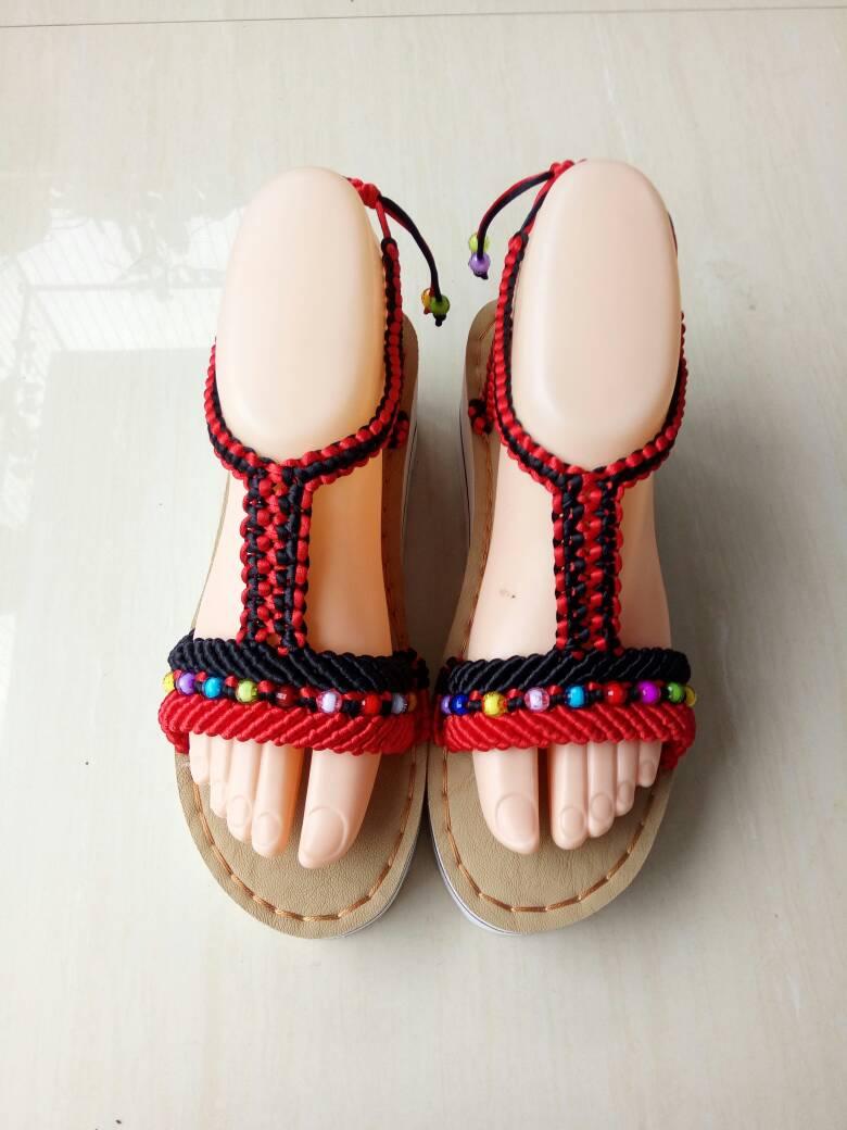 中国结论坛 仿了一双异域风情凉鞋  作品展示 080941ykgerk0kegddyidy
