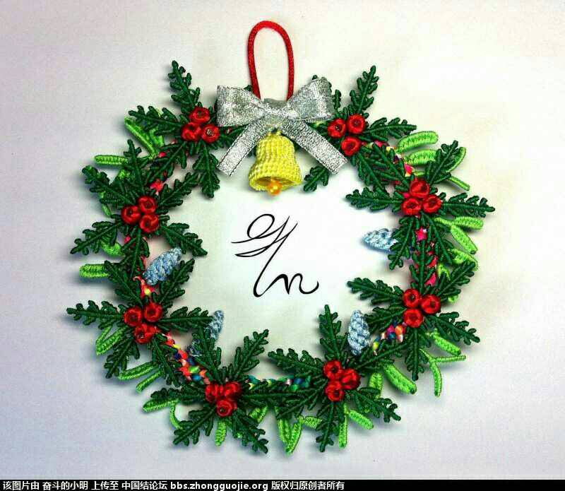 中国结论坛 求圣诞花环教程  结艺互助区 011004cg0cmgg3hsb3s0m0