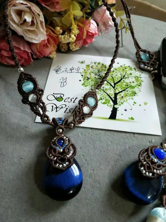 中国结论坛 猫眼石原创套装  作品展示