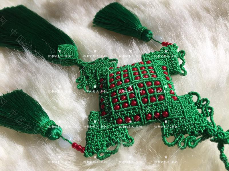 中国结论坛 原创 荷包挂饰~剪翠  作品展示 125452civt6a687irt1aa7