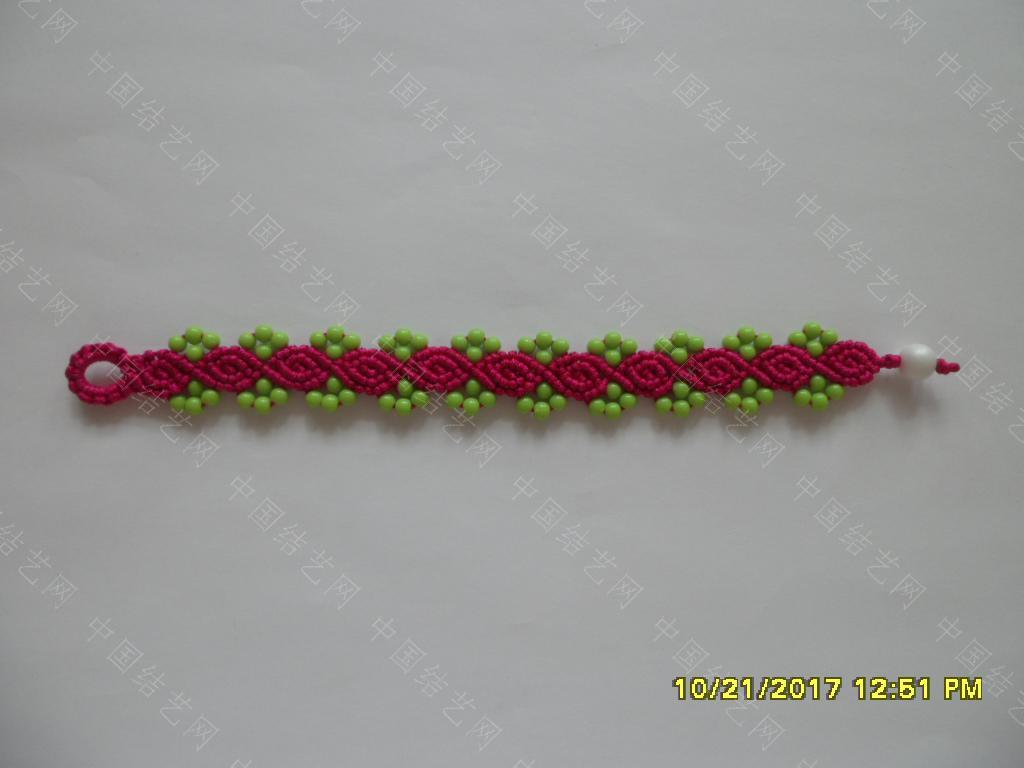 中国结论坛 更新版串珠手绳(3)—— 玫瑰花蕾款  图文教程区 185917milt7jt9mtfz7jvt