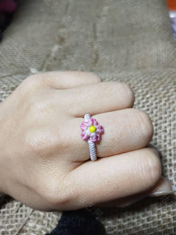 中国结论坛 第一次编的桃花戒指  作品展示 002407j9ro429fgigt2y4t