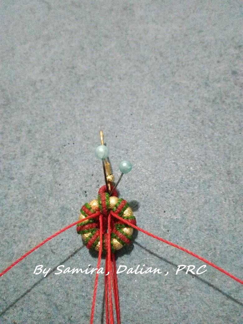 中国结论坛 平结圣诞耳饰  图文教程区 191152sqfczizu4zlz3rim