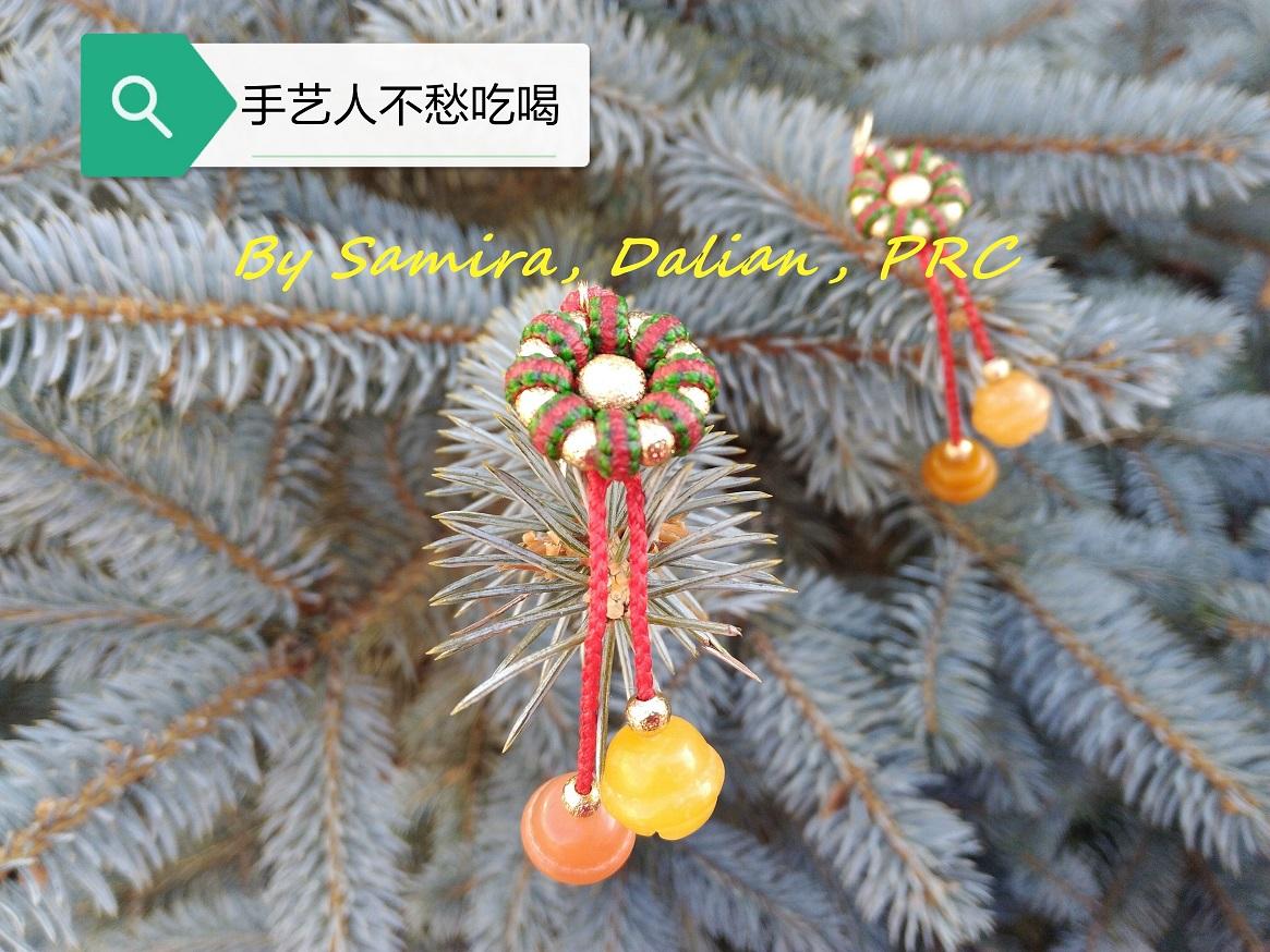 中国结论坛 平结圣诞耳饰  图文教程区 191157lo82a1b50j519fru
