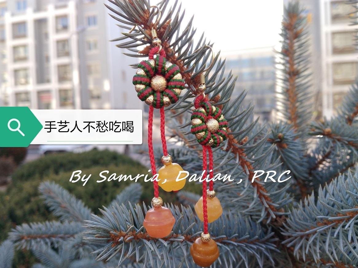 中国结论坛 平结圣诞耳饰  图文教程区 191158jybh3vxw3ee3we3i