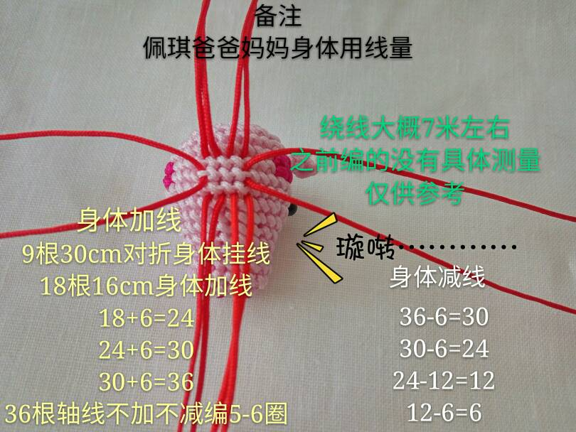 中国结论坛 小猪佩琪教程  立体绳结教程与交流区 110700n9g61zfg7gfe6szt