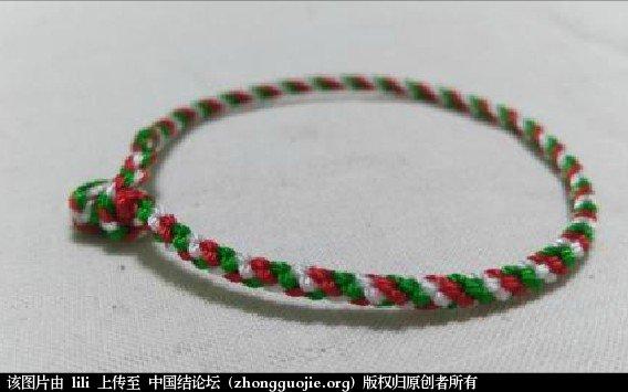 中国结论坛 圣诞手绳红绿白三色编织方法-- 绳结教程 视频教程  视频教程区 003712qap9aps8am88bnff