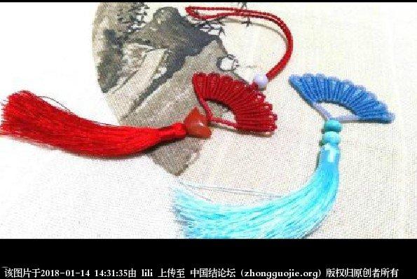 中国结论坛 折扇车挂编绳教程- 绳结教程 视频教程  视频教程区 143132lsdpy31yyny67piy