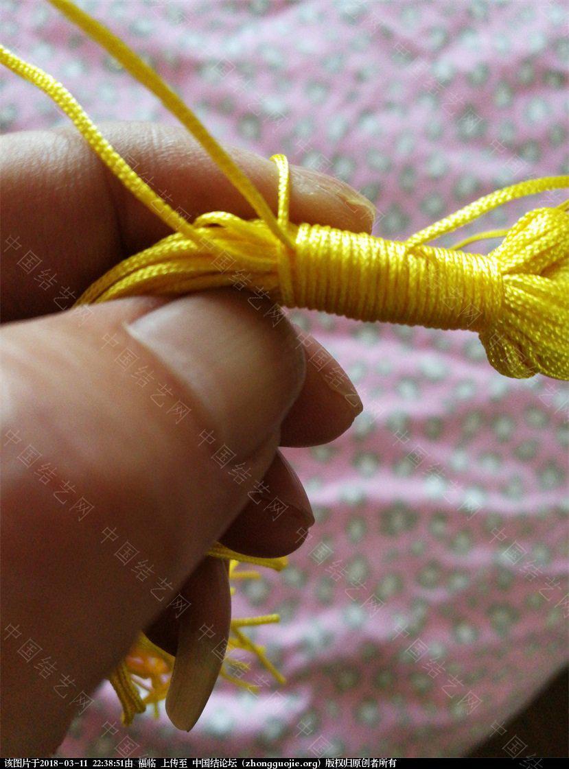 中国结论坛 中国结孙悟空的制作方法(基础型)一:头的制作  立体绳结教程与交流区 223329xq04d934dqt004d9