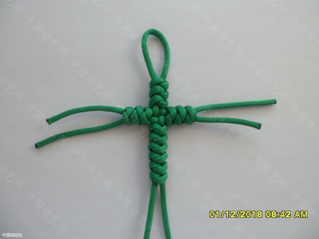 中国结论坛 一款伞绳十字挂件     『原创』 一根绳子编法大全简单,中国结编织论坛,吉祥结挂饰的编发视频,吉祥结挂件怎么做,吉祥挂件手工 图文教程区 161610qd0wo5ox5wg4i1z4
