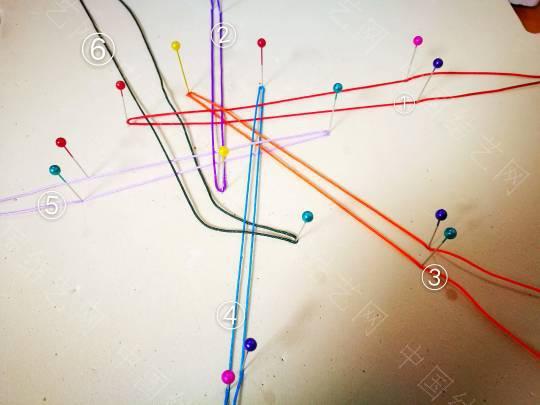 中国结论坛 六根线编六耳团锦结详细走线教程。  图文教程区 204543k927gf7g9bb8gp7g