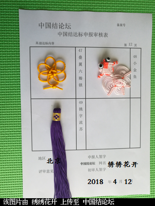 中国结论坛 绣绣花开----高级达标申请稿件  中国绳结艺术分级达标审核 154834csg19x6199bg6sr9