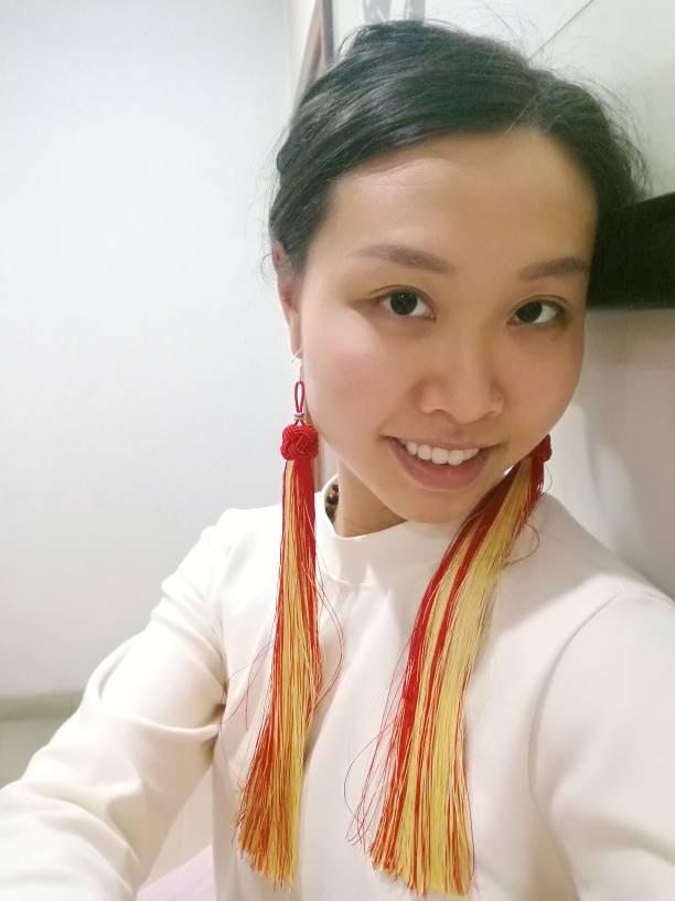 中国结论坛 长流苏耳环  作品展示 100630bjwswqyahntliek6