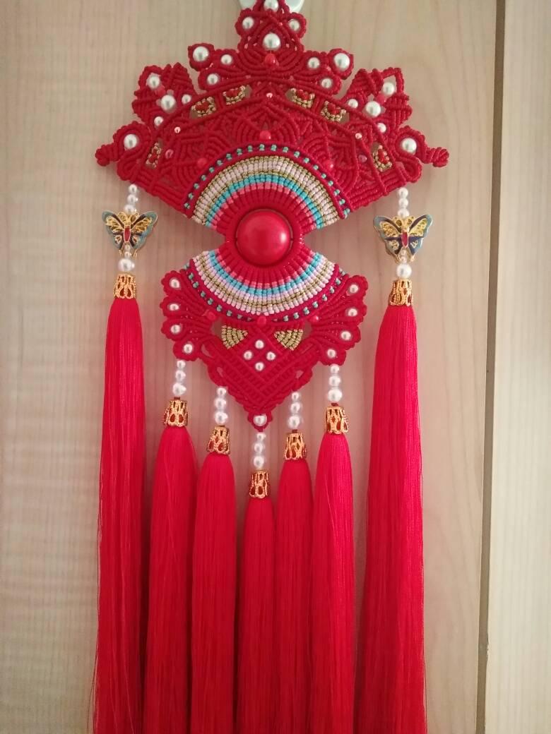 中国结论坛 受牧歌的春天启发,自创的一款花嫁凤冠  作品展示 073221h6o606uzuyg0zfyq