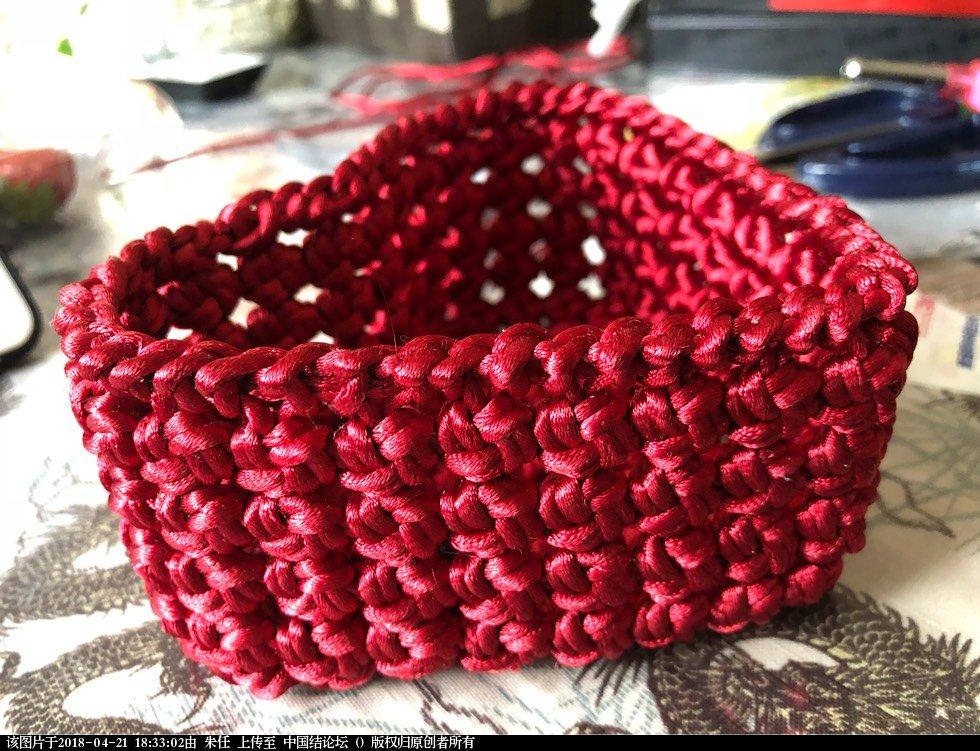 中国结论坛 为草莓花蕾的冰花结心形收纳筐及筐边画走线图  作品展示 183051n6ktitiqr99ltv9z